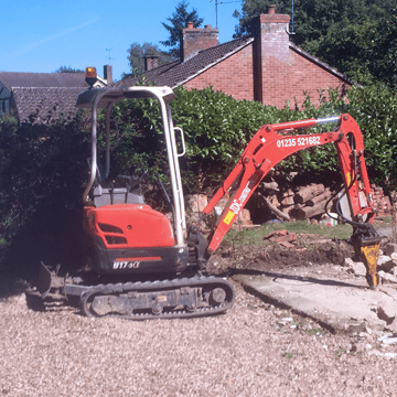 Groundworks, Paving, Digger hire & Associated Construction